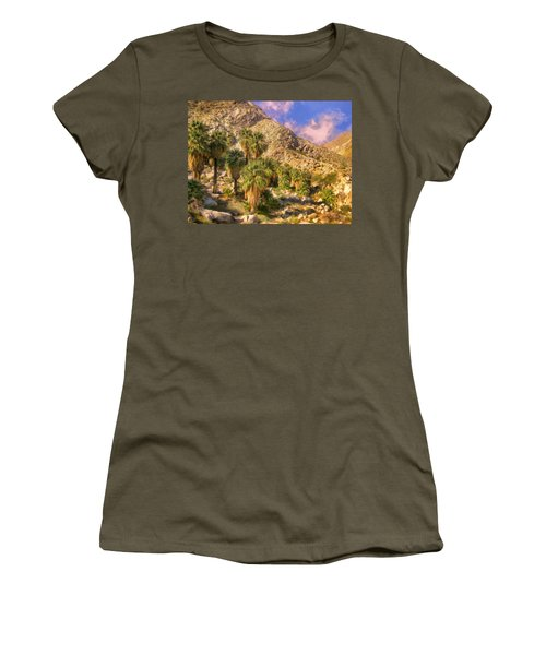 Palm Oasis In Late Afternoon Women's T-Shirt