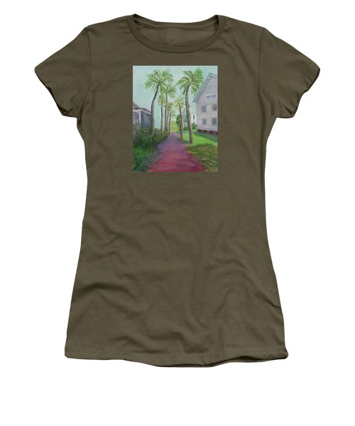 Palm Row In St. Augustine Florida Women's T-Shirt (Athletic Fit)