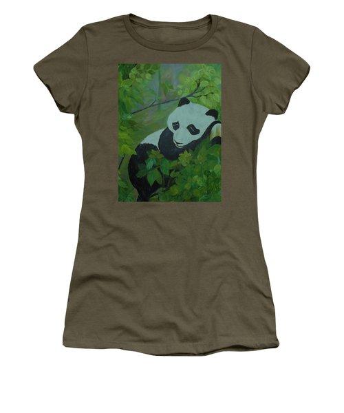 Panda Women's T-Shirt (Junior Cut) by Christy Saunders Church