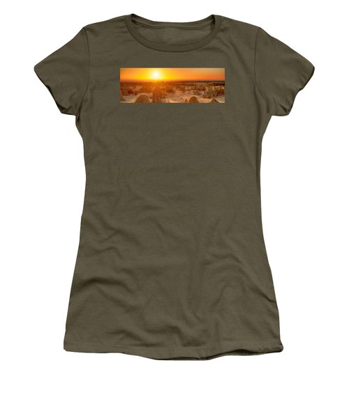Panoramic Photo Of Sunset At The Pinnacles Women's T-Shirt