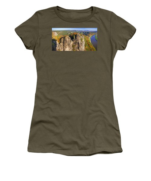 Panoramic Views Of Neurathen Castle Women's T-Shirt