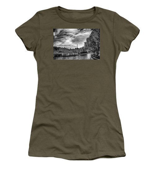 Women's T-Shirt featuring the photograph Paris by Howard Salmon