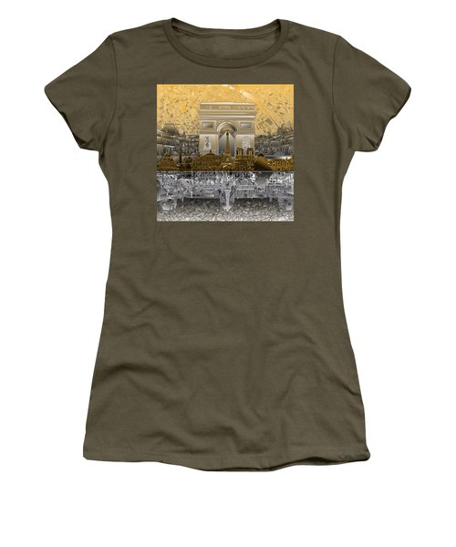 Paris Skyline Landmarks 5 Women's T-Shirt (Athletic Fit)