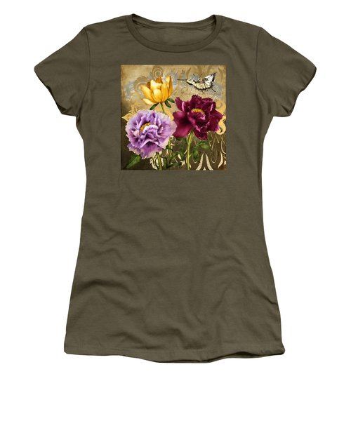 Parisian Peonies Women's T-Shirt (Athletic Fit)