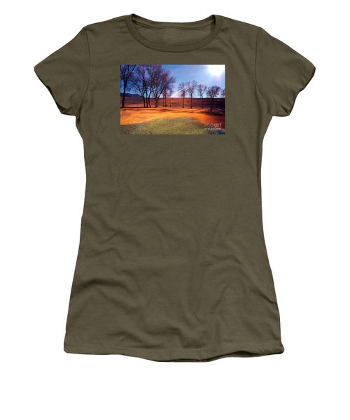 Park In Mcgill Near Ely Nv In The Evening Hours Women's T-Shirt
