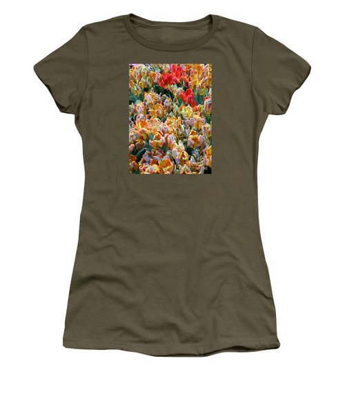 Women's T-Shirt (Junior Cut) featuring the photograph Parrot Tulips by Tanya  Searcy