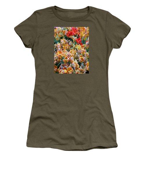 Parrot Tulips Women's T-Shirt (Athletic Fit)