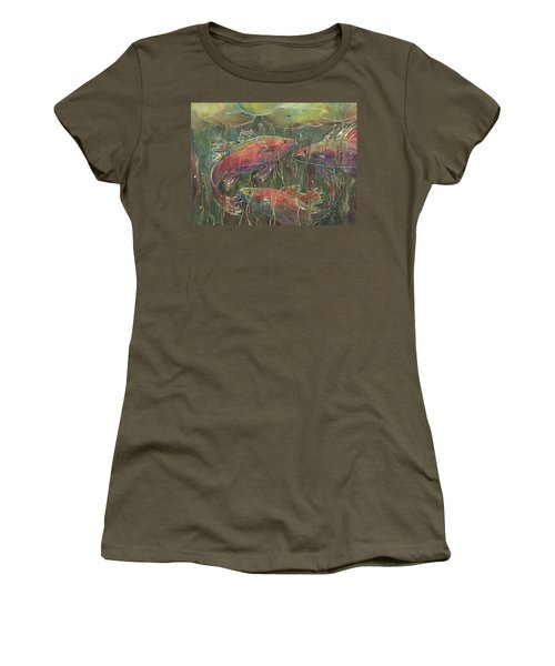 Party Under The Lily Pads Women's T-Shirt