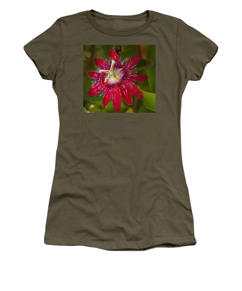 Women's T-Shirt (Junior Cut) featuring the photograph Passion Flower by Jane Luxton