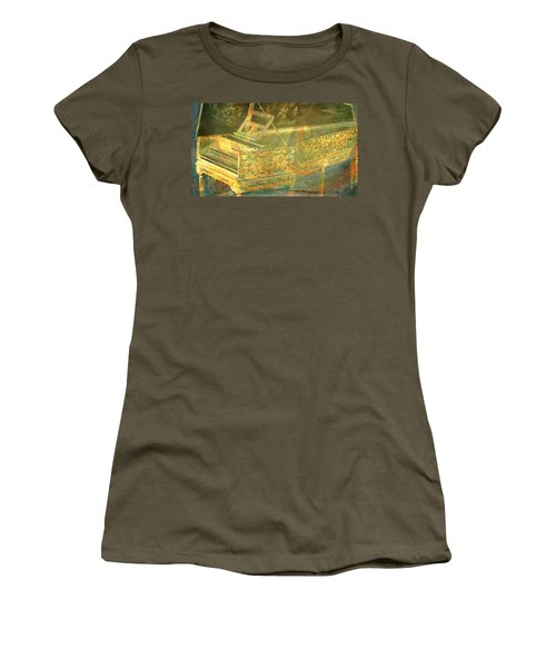 Women's T-Shirt (Junior Cut) featuring the mixed media Past To Present by Ally  White