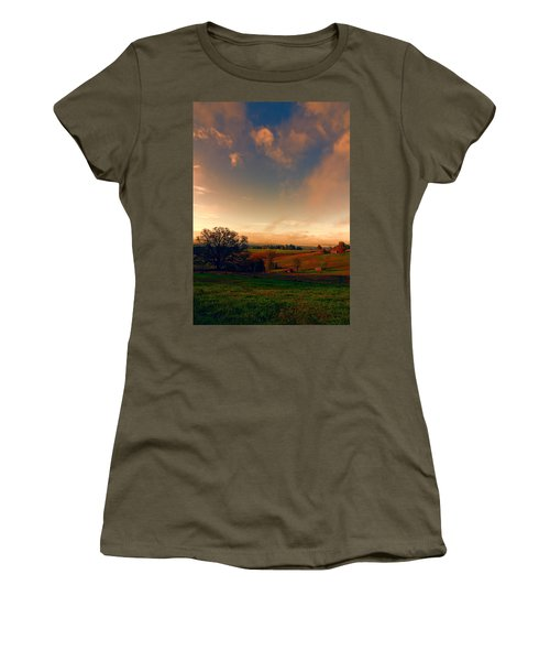 Pastureland Women's T-Shirt (Junior Cut) by Don Schwartz