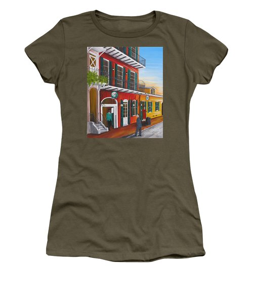 Pat O's Courtyard Entrance Women's T-Shirt (Athletic Fit)