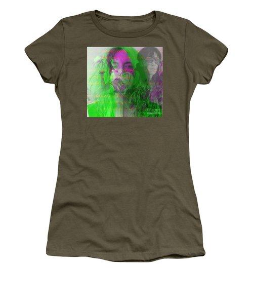 Patti Smith Dancing Barefoot Women's T-Shirt (Junior Cut) by Elizabeth McTaggart