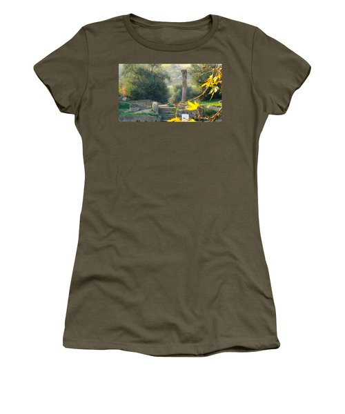 Women's T-Shirt (Junior Cut) featuring the photograph Peace At Asclepion by Alan Lakin
