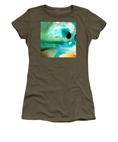Women's T-Shirt (Athletic Fit) featuring the painting Peaceful Understanding by Sharon Cummings