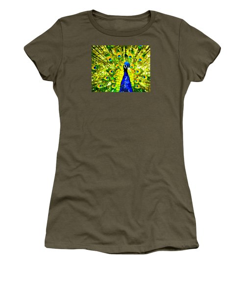 Peacock Abstract Realism Women's T-Shirt