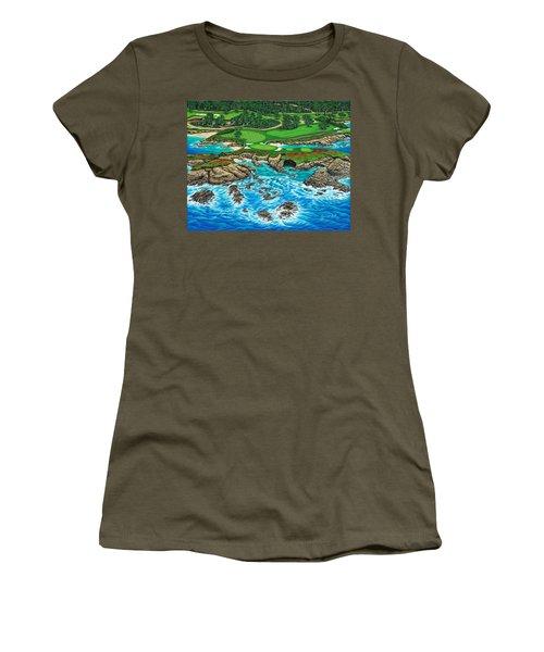 Pebble Beach 15th Hole-north Women's T-Shirt