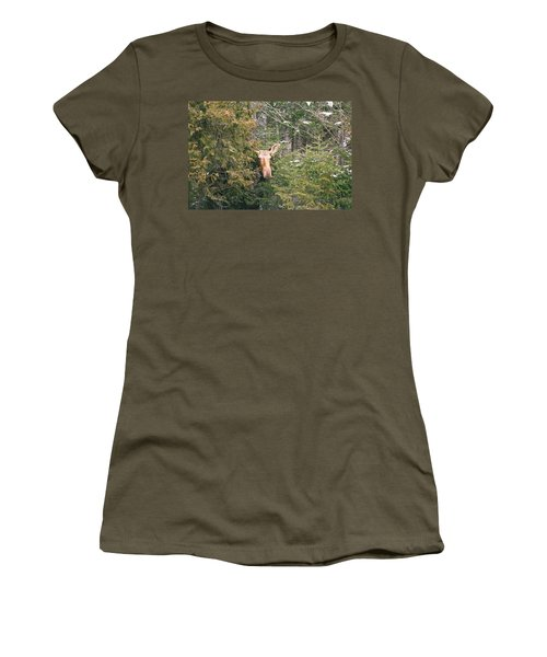 Peek-a-boo Women's T-Shirt (Athletic Fit)