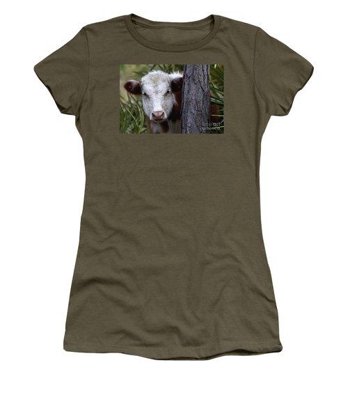 Peek A Moo Women's T-Shirt
