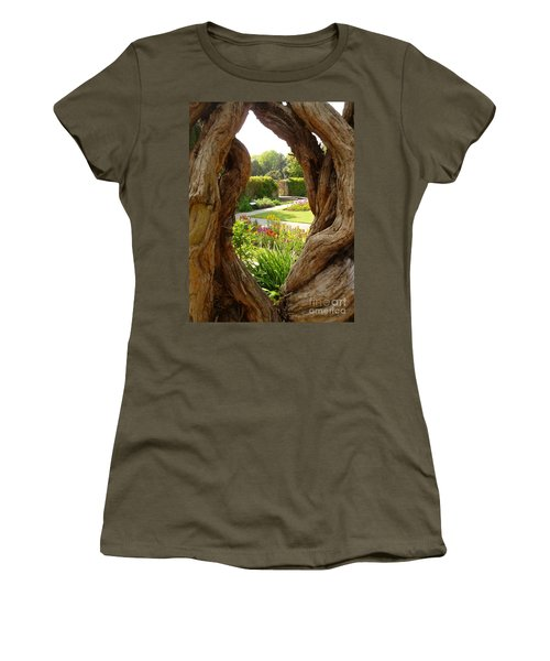 Peek At The Garden Women's T-Shirt (Junior Cut) by Vicki Spindler