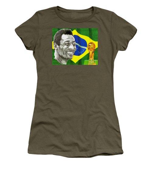 Pele Women's T-Shirt (Junior Cut) by Cory Still