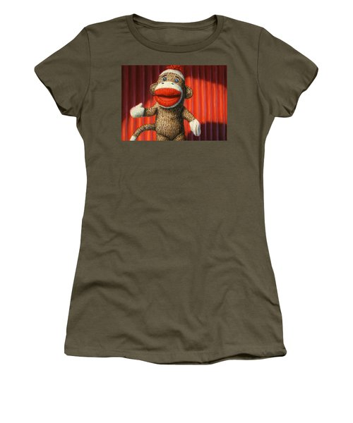 Performing Sock Monkey Women's T-Shirt