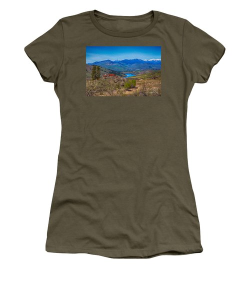 Perrygin Lake In The Methow Valley Landscape Art Women's T-Shirt