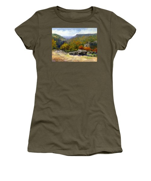 Petit Jean View From Mather Lodge Women's T-Shirt (Athletic Fit)