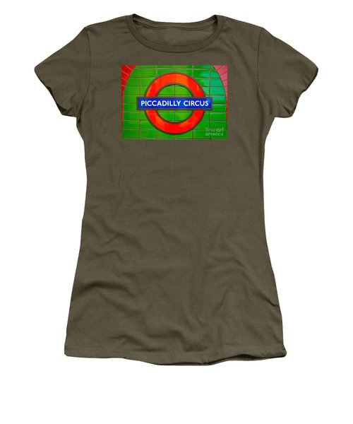Women's T-Shirt (Junior Cut) featuring the photograph Piccadilly Circus Tube Station by Luciano Mortula