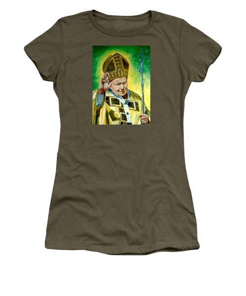 Women's T-Shirt (Junior Cut) featuring the painting Pilgrim by Henryk Gorecki