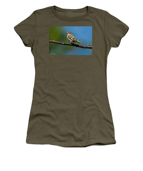 Pine Siskin Perched On A Branch Women's T-Shirt