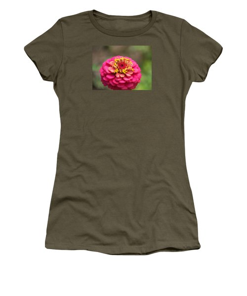Pink Floral  Women's T-Shirt (Athletic Fit)
