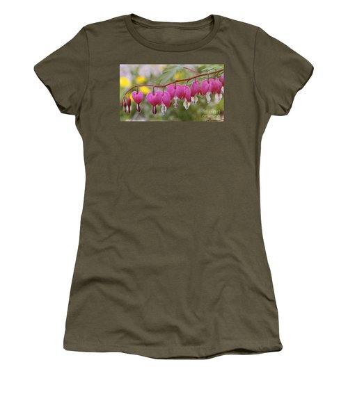 Pink Bleeding Hearts Women's T-Shirt (Athletic Fit)