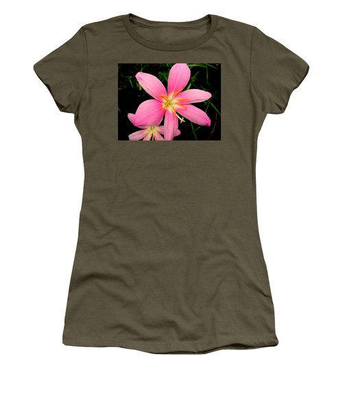 Women's T-Shirt featuring the photograph Pink Day Lily by Cynthia Amaral