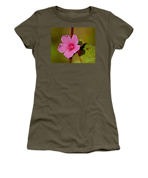 Women's T-Shirt (Junior Cut) featuring the photograph Pink Flower by Olga Hamilton
