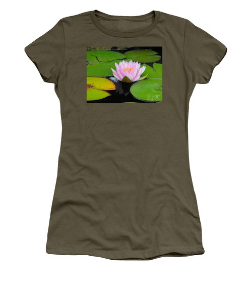Pink Lilly Flower Women's T-Shirt (Athletic Fit)