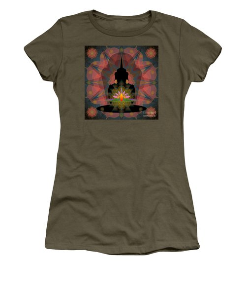 Pink Lotus Buddha Women's T-Shirt