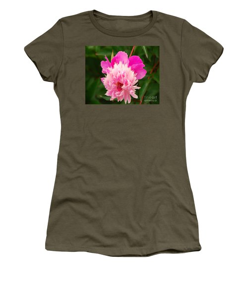 Women's T-Shirt (Junior Cut) featuring the photograph Pink Peony by Mary Carol Story