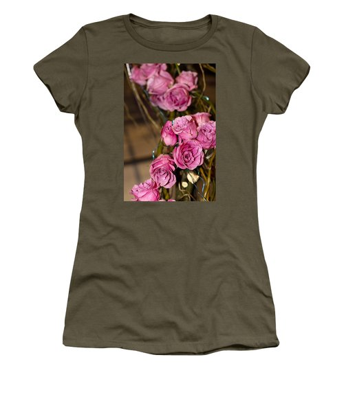 Women's T-Shirt (Junior Cut) featuring the photograph Pink Roses by Patrice Zinck