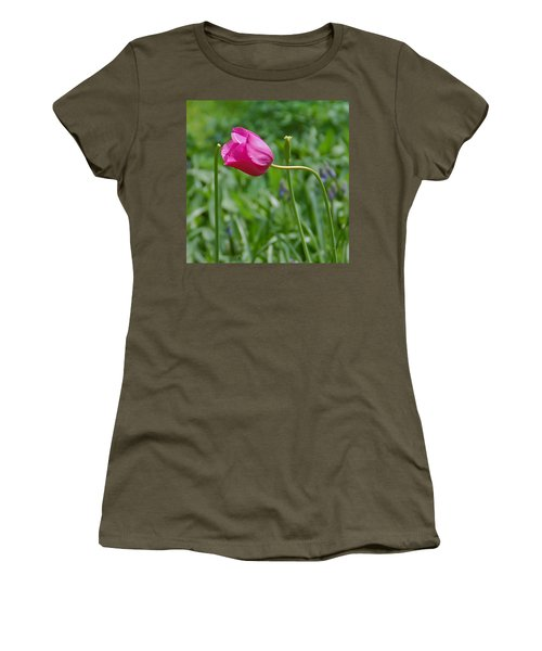 Women's T-Shirt (Junior Cut) featuring the photograph Pink Tulip by Aimee L Maher Photography and Art Visit ALMGallerydotcom