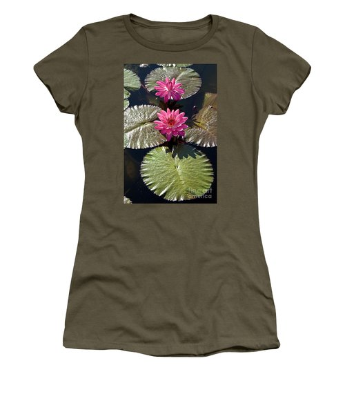 Pink Water Lily IIi Women's T-Shirt