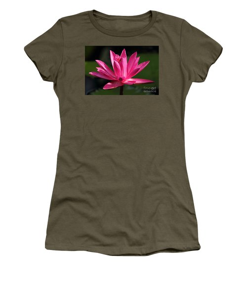 Pink Water Lily Women's T-Shirt