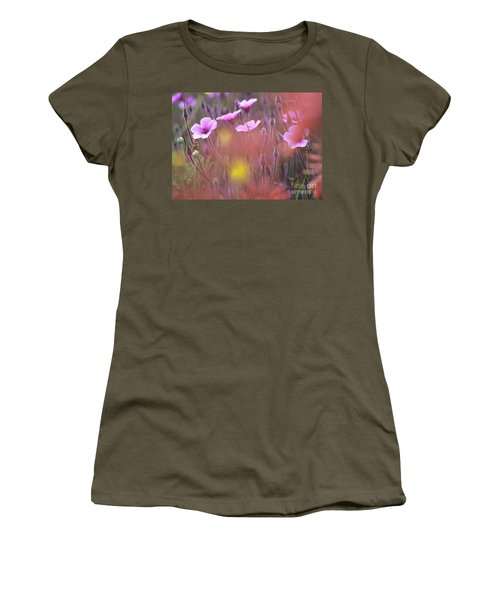 Pink Wild Geranium Women's T-Shirt