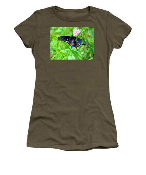 Pipevine Swallowtail Hanging On Women's T-Shirt