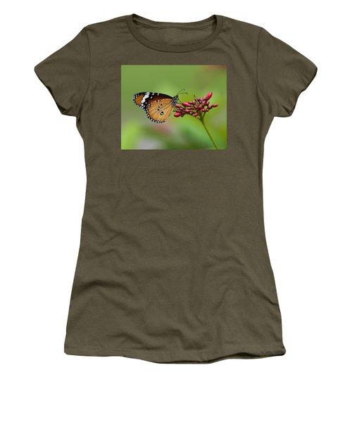 Plain Tiger Or African Monarch Butterfly Dthn0008 Women's T-Shirt