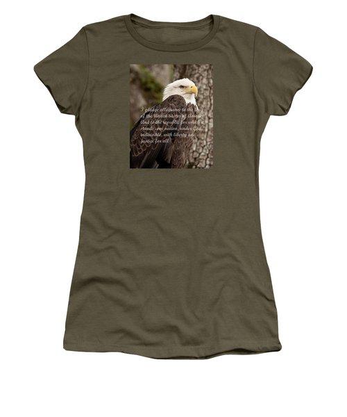 Pledge Of Allegiance Women's T-Shirt (Junior Cut) by John Black
