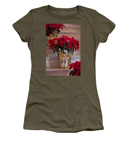 Poinsettias Women's T-Shirt (Athletic Fit)