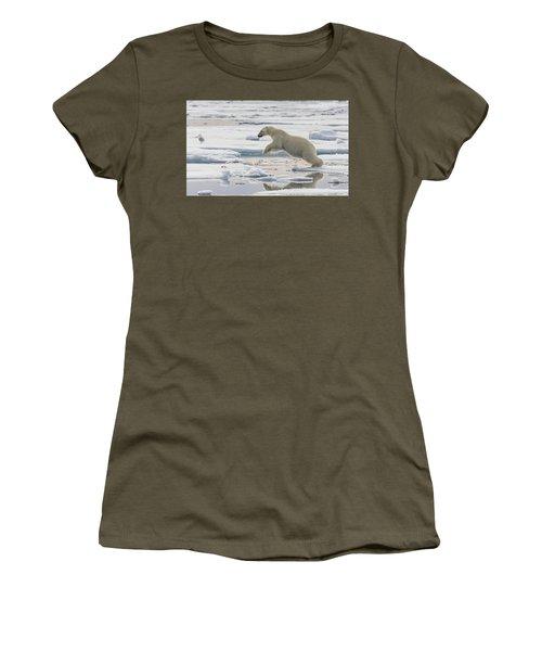Polar Bear Jumping  Women's T-Shirt