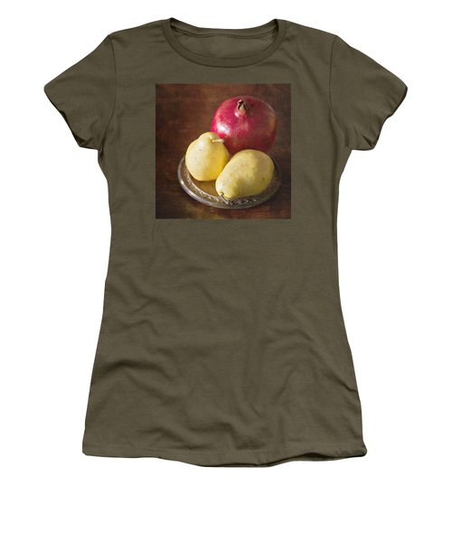 Pomegranate And Yellow Pear Still Life Women's T-Shirt