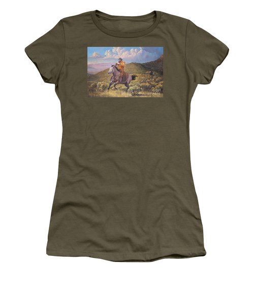 Pony Express Rider At Look Out Pass Women's T-Shirt